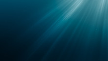 Sun Light Rays Under Water. 3D Rendered Illustration.