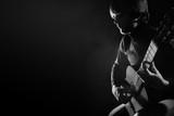 Acoustic guitar player guitarist playing classical guitar