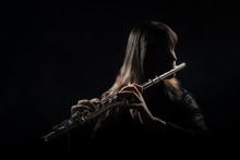 Flute Player Flutist Playing Instrument Flute Music