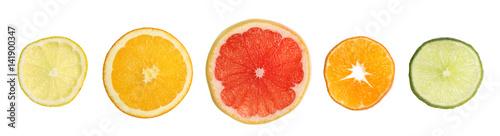 Fotografie, Obraz  Rondelles d'agrumes variés