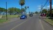Stock video driving on Haleiwa Road Oahu Hawaii
