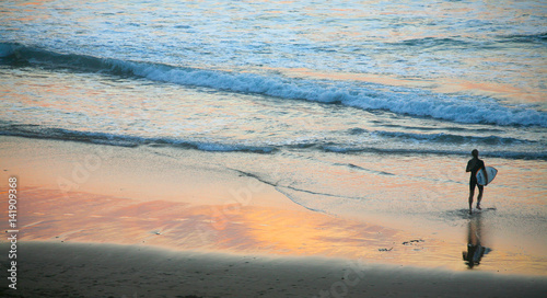 Plakat surfer surfing country Baskijski zachód słońca 2857-f17
