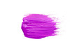 Smear of lilac brush on white background