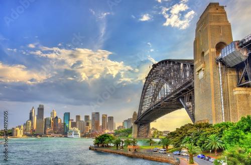 Sydney Harbour Bridge from Milsons point, Australia.