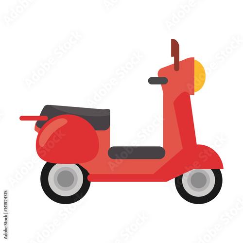 red scooter transport vintage vector illustration eps 10 Wallpaper Mural