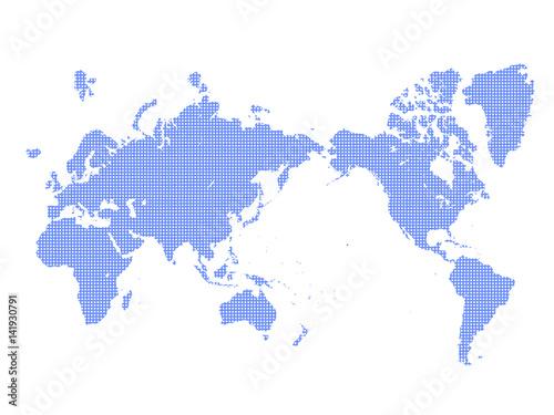 Poster Carte du monde 世界地図 ドット世界地図 地図