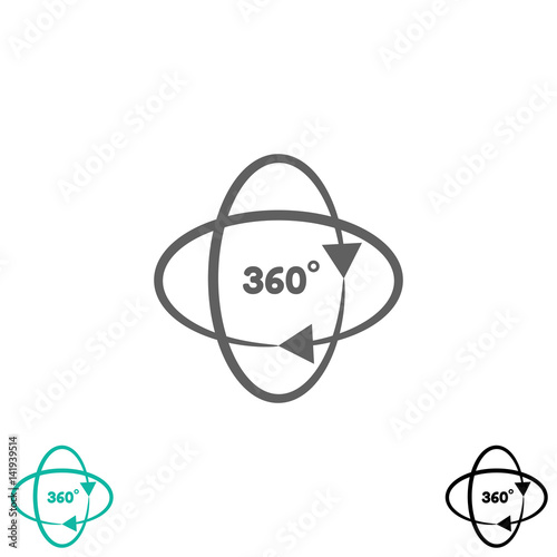360 Degrees Symbol Buy This Stock Vector And Explore Similar