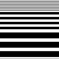 Obraz na SzkleSeamless Horizontal Stripe Pattern. Vector Black and White Background