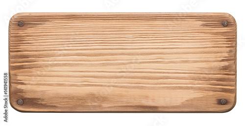 Rustic wood board with nails Fotobehang