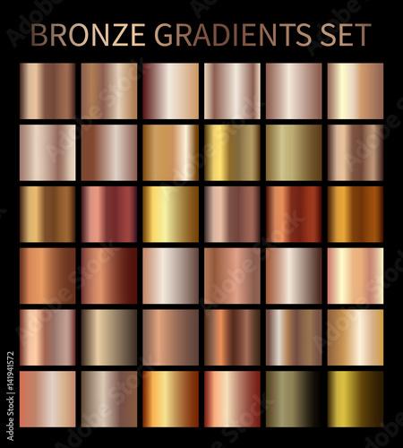 Poster Metal Bronze gold gradients