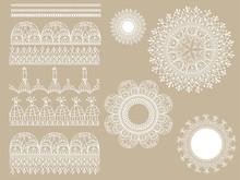 Vector Lacy Scrapbook Design E...
