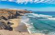 canvas print picture - Atlantik Traumbucht an der Westküste von Fuerteventura Playa del Viejo Rey / Spanien