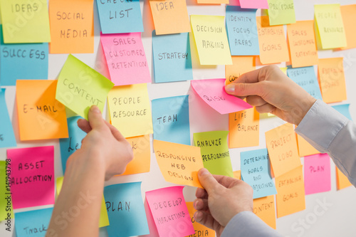 Brainstorming concepts.
