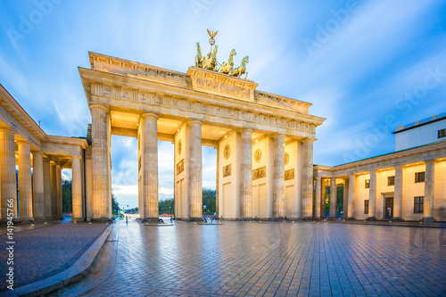 Brandenburg Gate in Berlin city, Germany © orpheus26