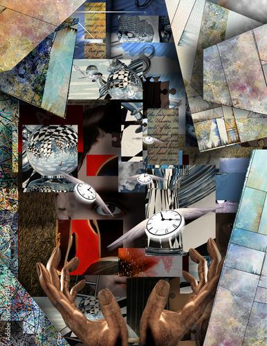 czas-obraz-abstrakcyjny-roznorodne-ksztalty-dlonie-geometria