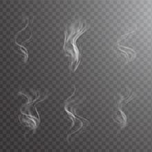 White Cigarette Smoke Waves On...