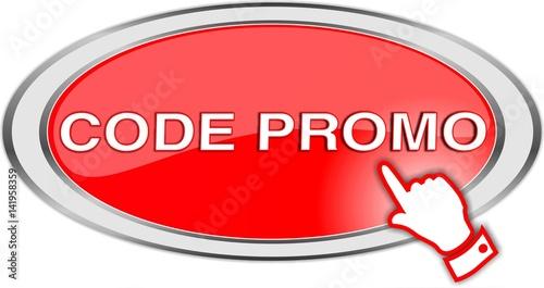 Fotografie, Obraz  bouton code promo