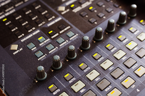 Fototapeta  Digital sound mixing console