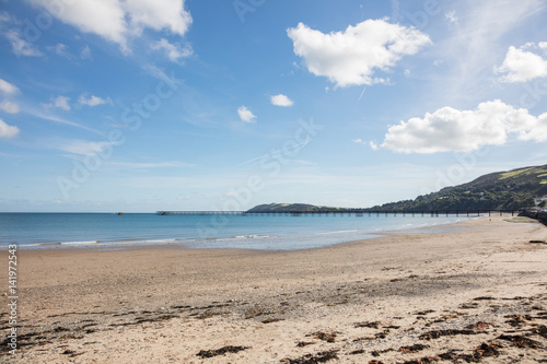 Photo  Sandy Beach and pier Ramsey Isle of Man