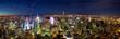 Aerial view panorama of Manhattan New York City at night