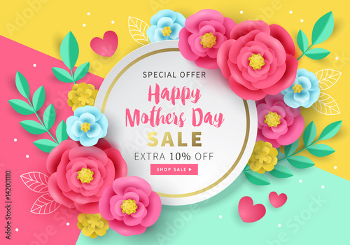 Mothers day sale banner template for social media ...
