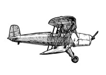 Vector Drawing Of Airplane Sty...