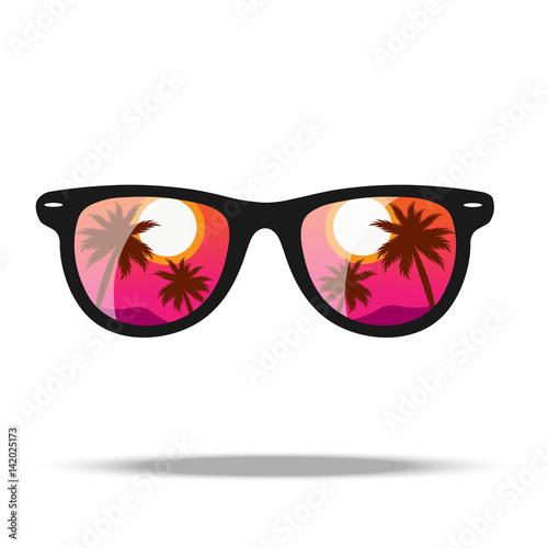 Obraz na plátne Sunglasses. Vector illustration