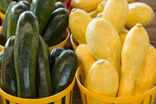 Zucchini And Squash For Sale At Farmers Market