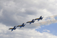 Blue Angels Fly In Tight Formation