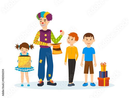 Fotografía  Clown animator, shows tricks and scenes, amusing and delighting children