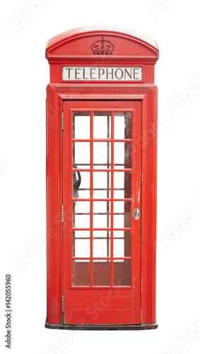 Fototapeta  Traditional telephone booth in London, UK