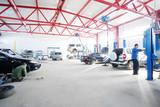Fototapeta Przestrzenne - Interior of a car repair station