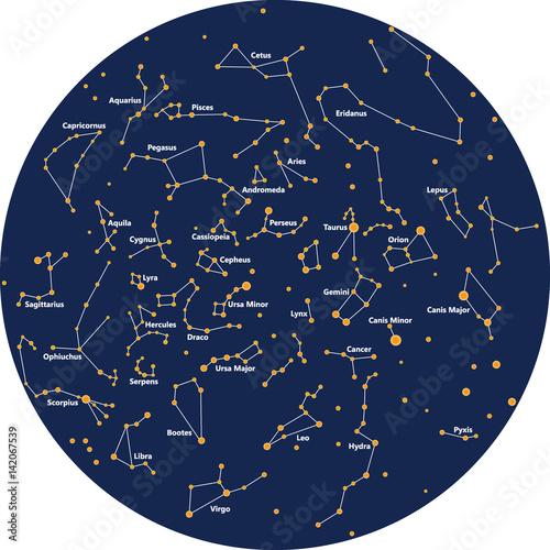 Zdjęcie XXL konstelacja niebo noc