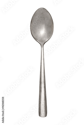 A spoon top close isolated on a white background