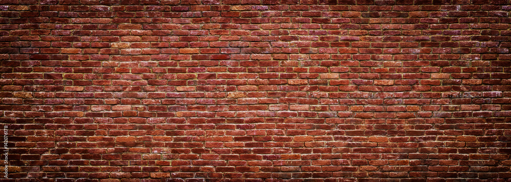 Fototapety, obrazy: panoramic view of masonry, brick wall as background