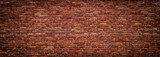 Fototapeta Do przedpokoju - panoramic view of masonry, brick wall as background