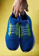 Blue Pair Of Sport Shoes