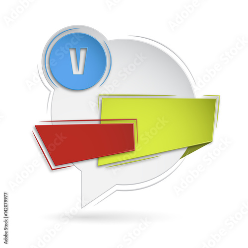 Fotografie, Obraz  szablon baner dymek ogłoszenie infografika tekst