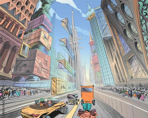 recznie-rysowane-fantastyczne-miasto-przyszlosci