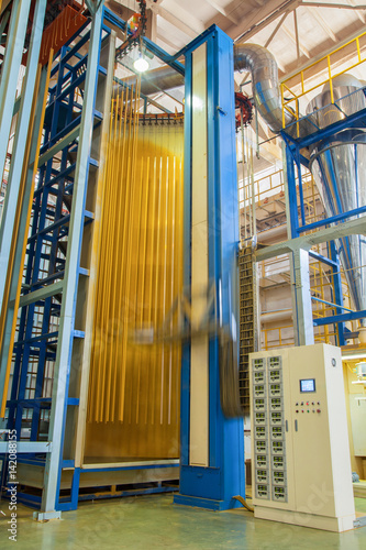 powder coating system. workshop and equipment for coloring aluminum ...