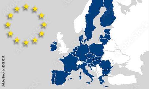 Karte Eu.Eu Europäische Union Karte Eu Länder Weltkarte Landkarte