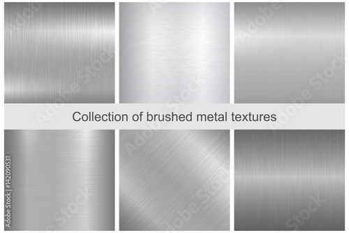 Poster de jardin Metal Collection of polished metal textures.