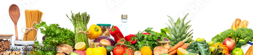 Aluminium Prints Fresh vegetables Food background