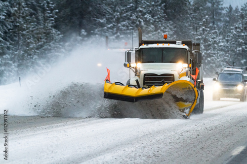 Photo  winter driving conditions