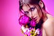 Leinwandbild Motiv bright make-up style