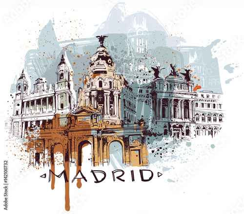 Fototapeta premium Hiszpania Madryt