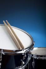 Snare Drum With Drum Sticks