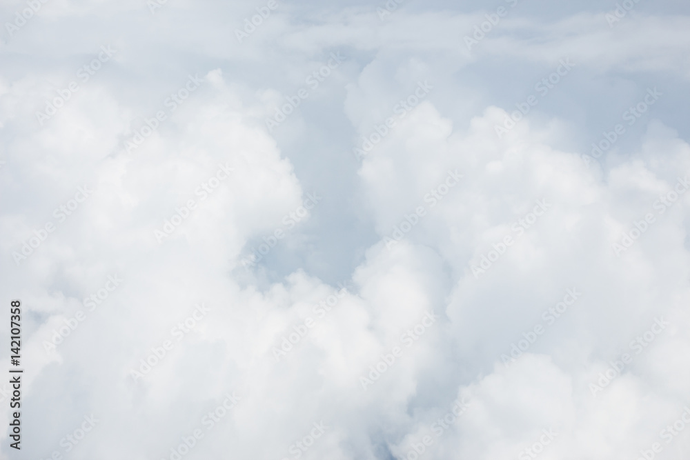 white soft bright cotton clouds background