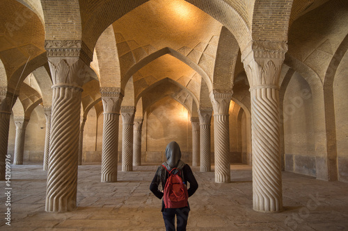 Fotografie, Obraz  The Vakil Mosque is a mosque in Shiraz contains 48 monolithic pillars carved in