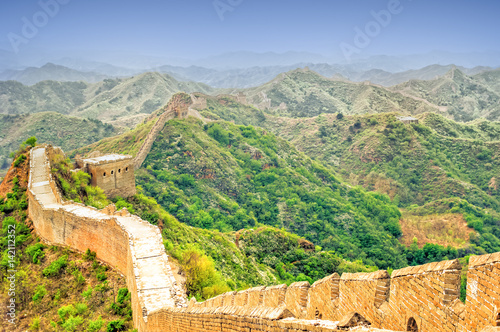 Muraille de Chine View on great wall by jinshanling in China